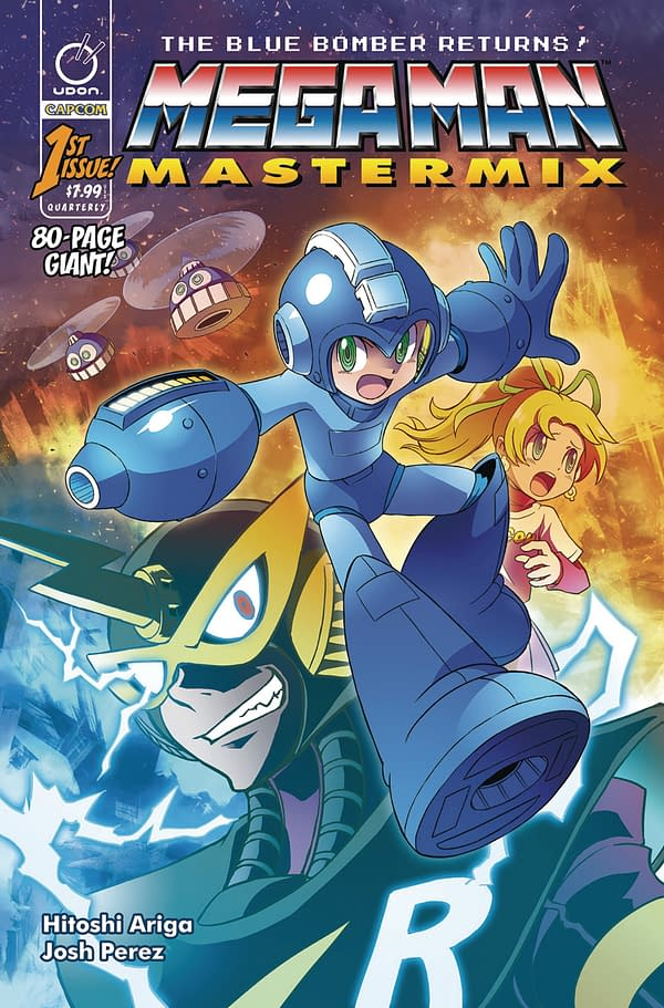 Megaman Back In Comics In Color With Mastermix #1 In Udon January 2018 Solicits