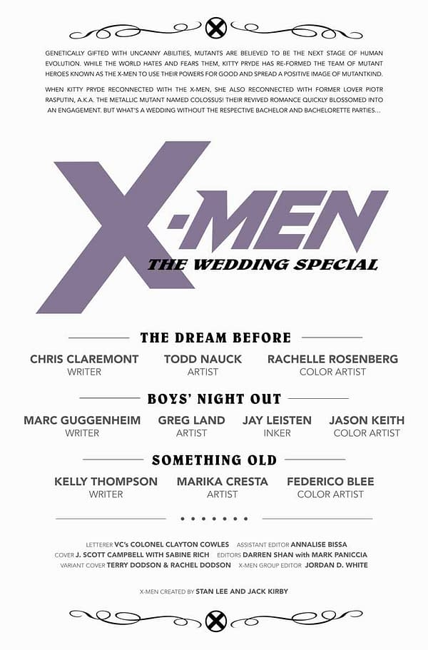 Chris Claremont Returns Next Week, But You Can Preview X-Men Wedding Special #1 Tonight