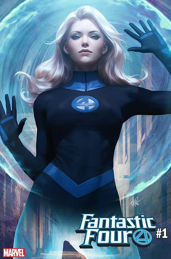 "Stanley ""Artgerm"" Lau's Invisible Woman and Mr. Fantastic Covers for Fantastic Four #1 Revealed"