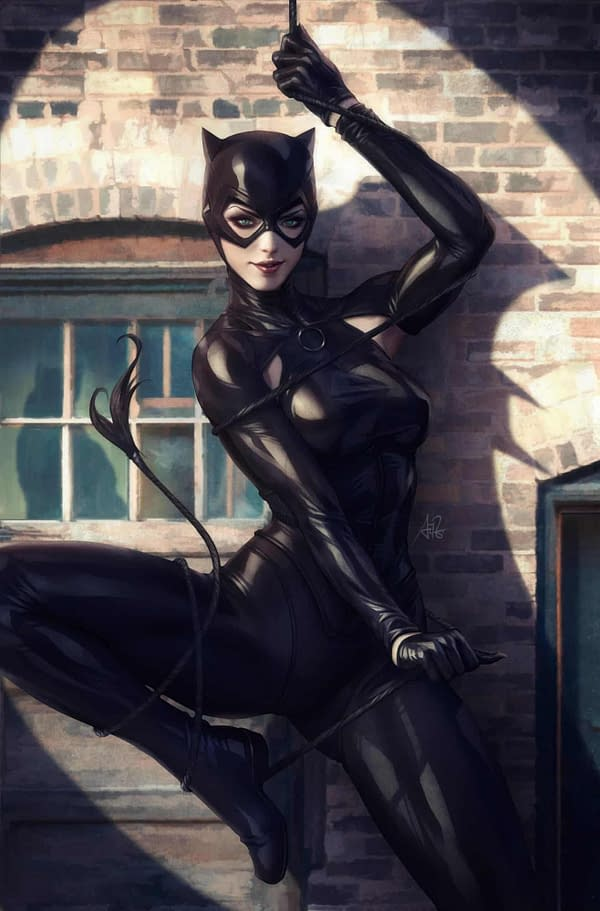 """Stanley """"Artgerm"""" Lau's Cover for Catwoman #1"""