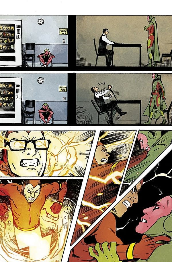 Three Pages From the New Series of The Vision #1