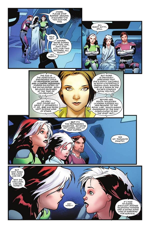 Marvel Preview Reveals Rogue is Secret Daughter of Professor X and Lilandra