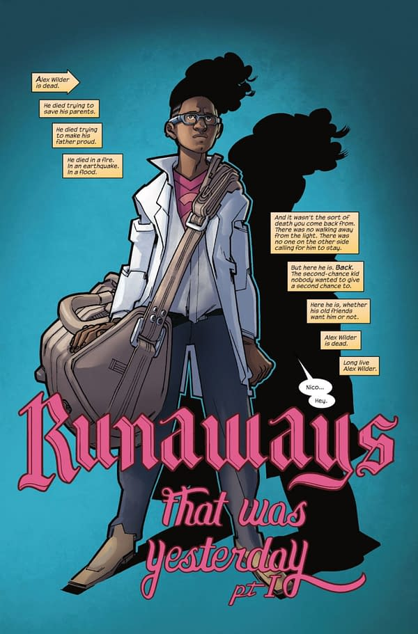 The Return of Alex Wilder is Making Things Awkward in Runaways #13 Preview