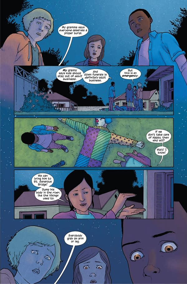 When Kids Have to Dispose of a Dead Clown – Preview of Ice Cream Man #8