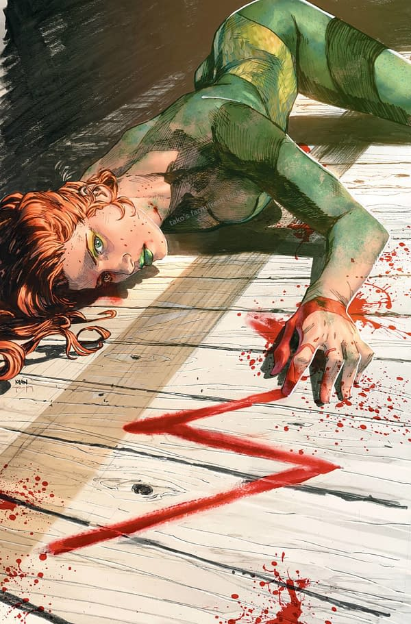 Poison Ivy Death on the Cover of Heroes In Crisis #7