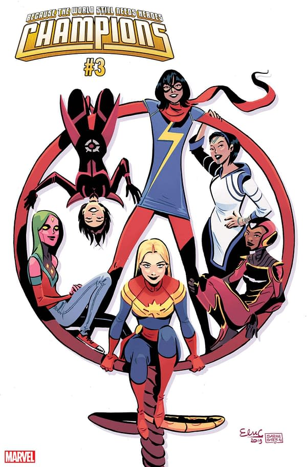 Marvel Celebrates International Women's Day with Champions #3 Variant