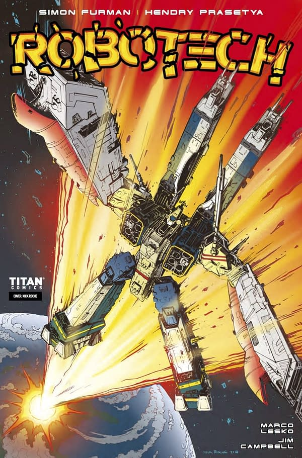 The SDF-1 Makes a Blazing Return to Earth in Robotech #16