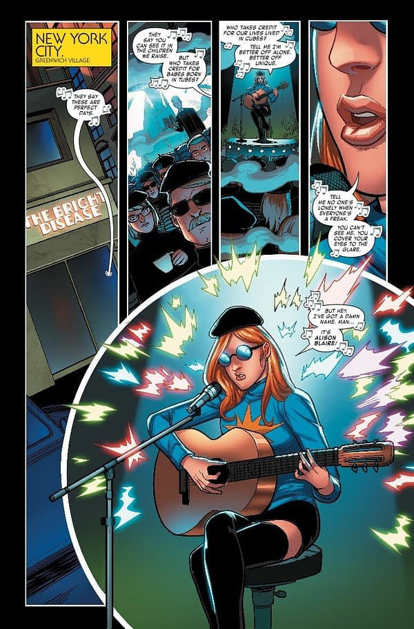 Dazzler's Hippie Hipster Makeover in Apocalypse and the X-Tracts #1