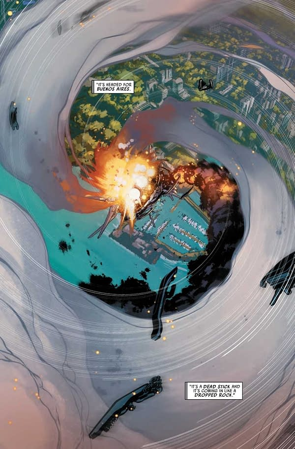 Tony Stark About to Kill Entire City of Buenos Aires in Domino Hotshots #3 (Preview)