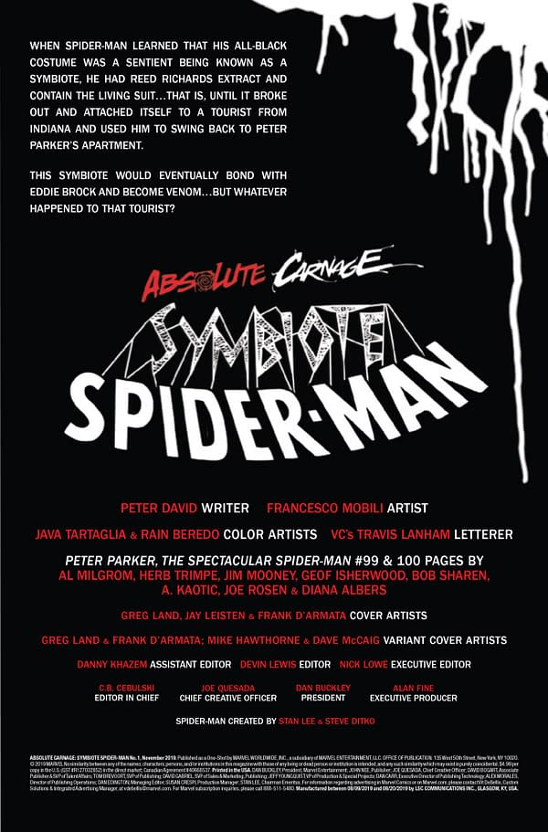 Absolute Carnage: Symbiote Spider-Man #2 [Preview]
