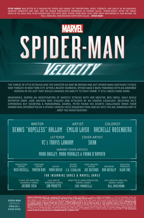 Spider-Man: Velocity #2 [Preview]