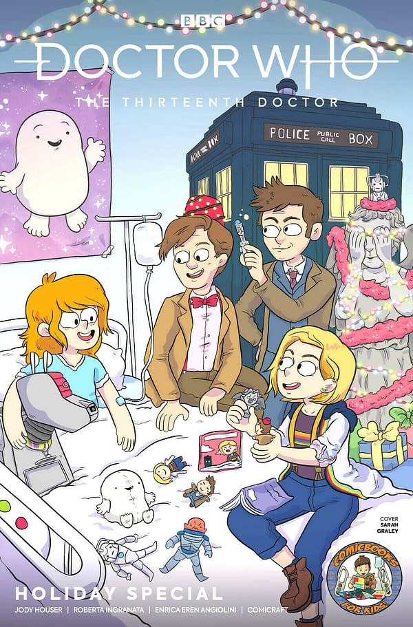 The Tenth, Eleventh and Thirteenth Doctors in New Doctor Who: Christmas Special for ComicBooks For Kids