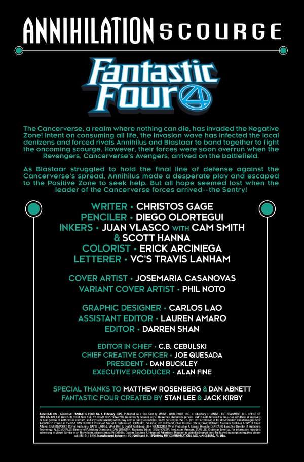 Annihilation Scourge: Fantastic Four #1 [Preview]