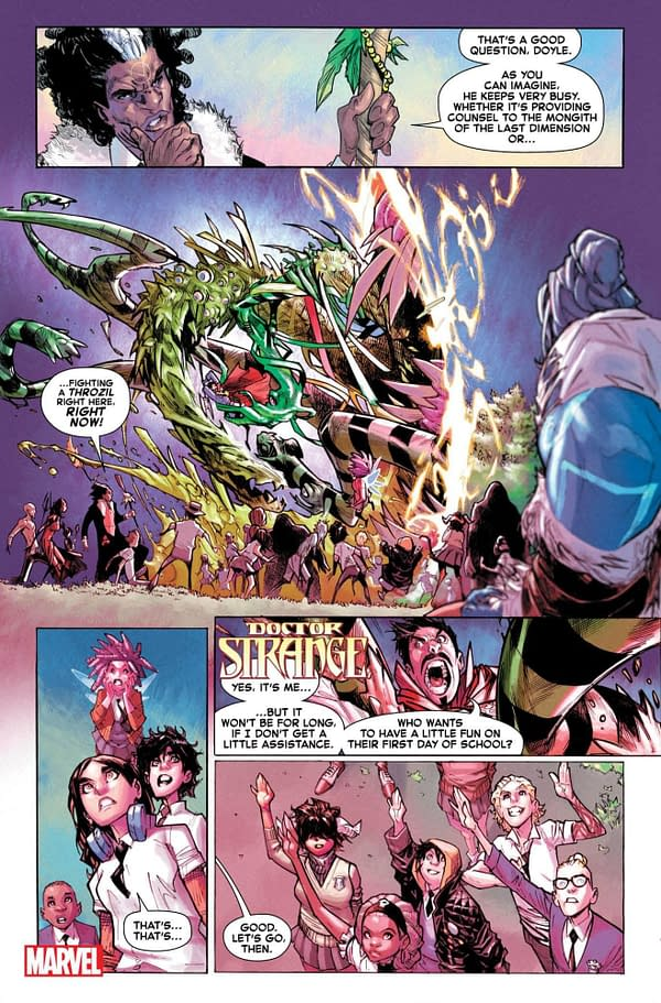 """Skottie Young and Humberto Ramos Launch """"Strange Academy"""", a New Orleans-Set Magical School Comic From Marvel in March"""