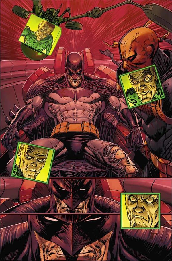 Batman #92, Batman vs Riddler, interior page