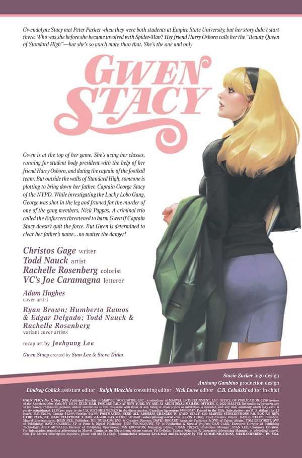 Gwen Stacy #2 [Preview]
