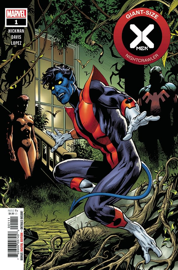 The cover to GIant-Size X-Men: Nightcrawler #1 from Marvel Comics, with art by Alan Davis and Edgar Delgado.