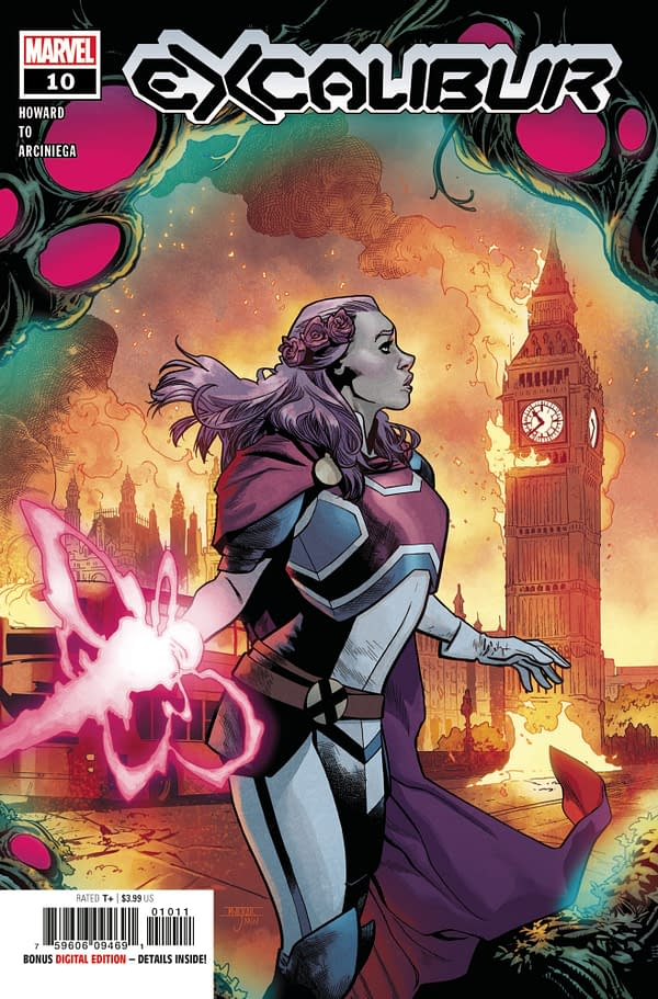 The cover to Excalibur #10