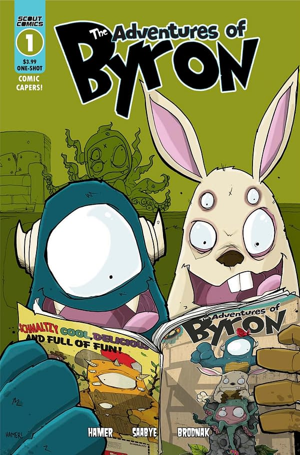 The Adventures of Byron #1 cover. Credit: Scout Comics.