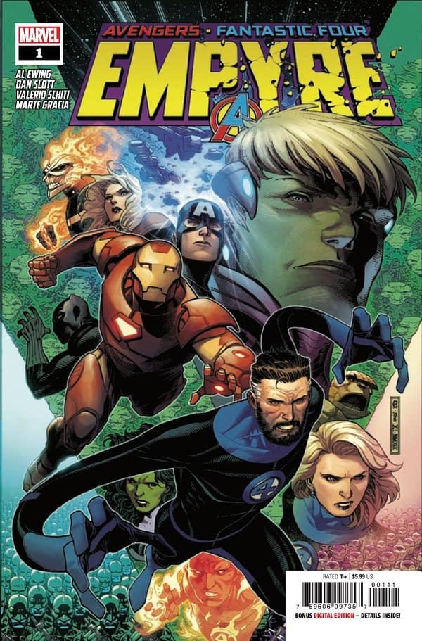Empyre #1 cover. Credit: Marvel Comics.