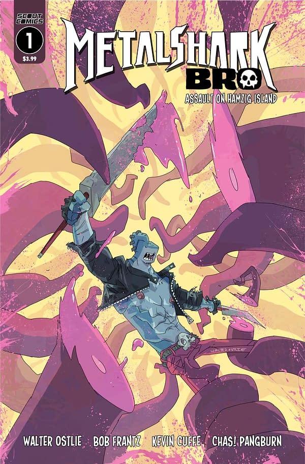 Metalshark Bro Volume 2 #1 cover. Credit: Scout Comics.