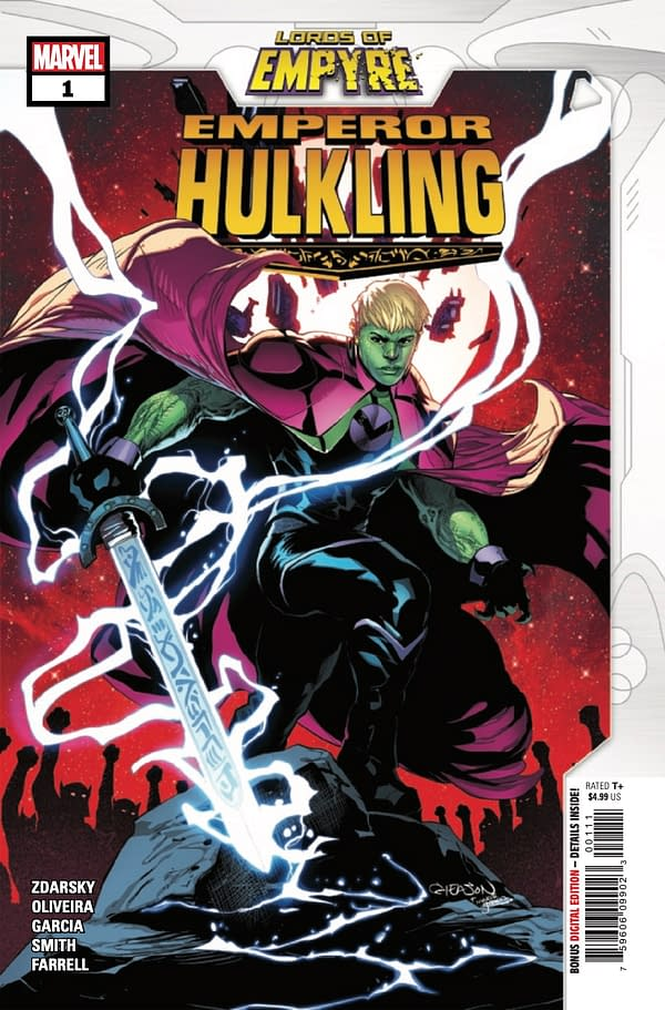 Lords of Empyre Emperor Hulkling #1 cover. Credit: Marvel Comics.