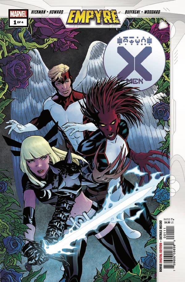 Jonathan Hickman and Tini Howard's Empyre: X-Men #1 cover. Credit: Marvel Comics.