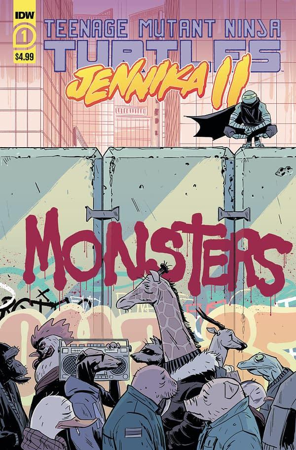 The cover to TMNT Jennika 2.