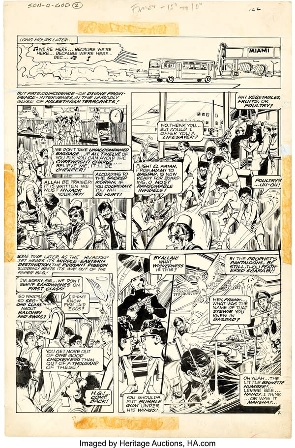When Neal Adams Has Super-Jesus Fight The Muslims in National Lampoon