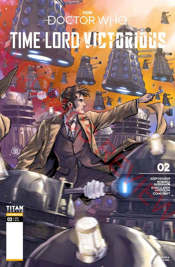 Doctor Who: Time Lord Victorious #2 cover. Credit: Titan Comics