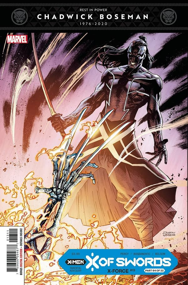 The cover to X-Force #13