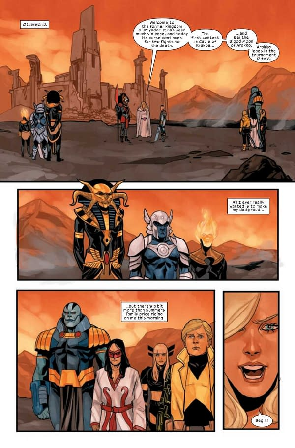 A preview page from Cable #6 (X of Swords #19)