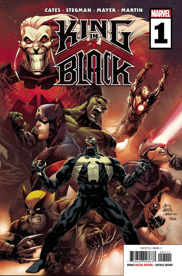 The cover to King in Black #1