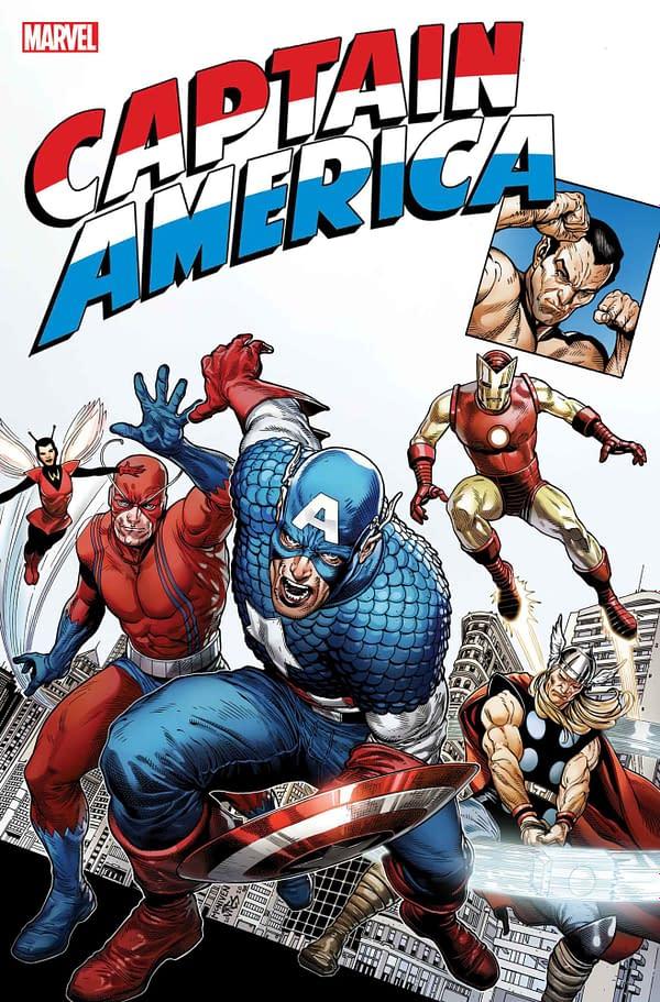 John Cassaday, Pepe Larraz, Peach Momoko Recreate Captain America #1