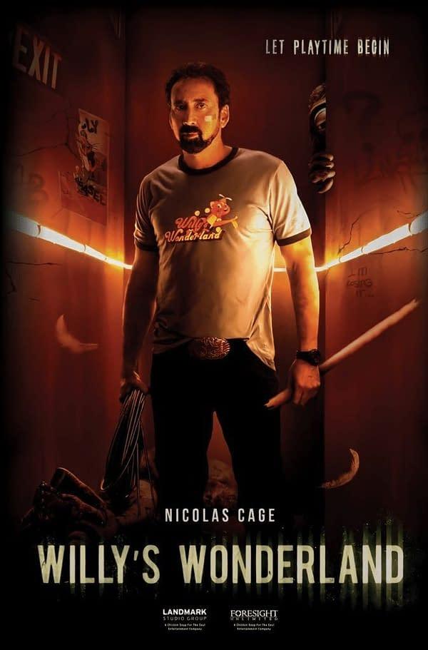 Nicholas Cage Fights Evil Animatronics In Willy's Wonderland Trailer