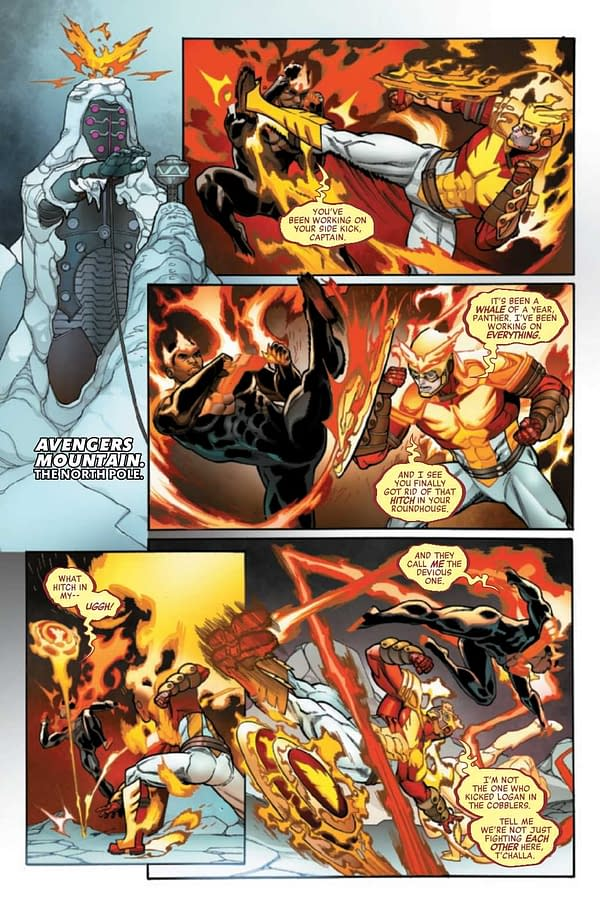 Interior preview page from Avengers #44, by Jason Aaron and Javi Garron, in stores from Marvel Comics on April 7th, 2021.
