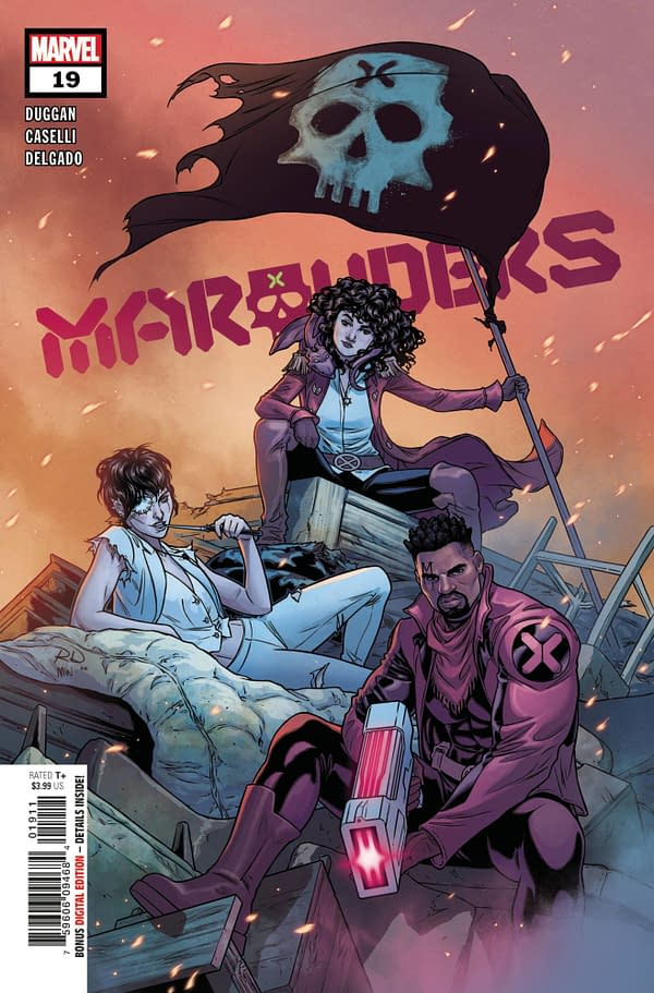 Russell Dauterman's cover to Marauders #19, by Gerry Duggan and Stefano Caselli, in stores from Marvel Comics on Wednesday, April 7th, 2021.