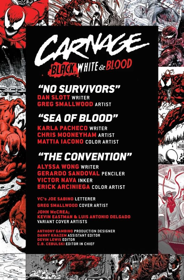 Interior preview page from CARNAGE BLACK WHITE AND BLOOD #3 (OF 4)