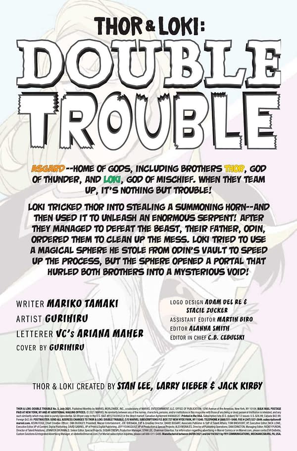 Interior preview page from THOR AND LOKI DOUBLE TROUBLE #3 (OF 4)