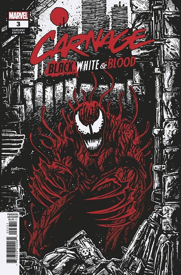 Cover image for CARNAGE BLACK WHITE AND BLOOD #3 (OF 4) EASTMAN VAR