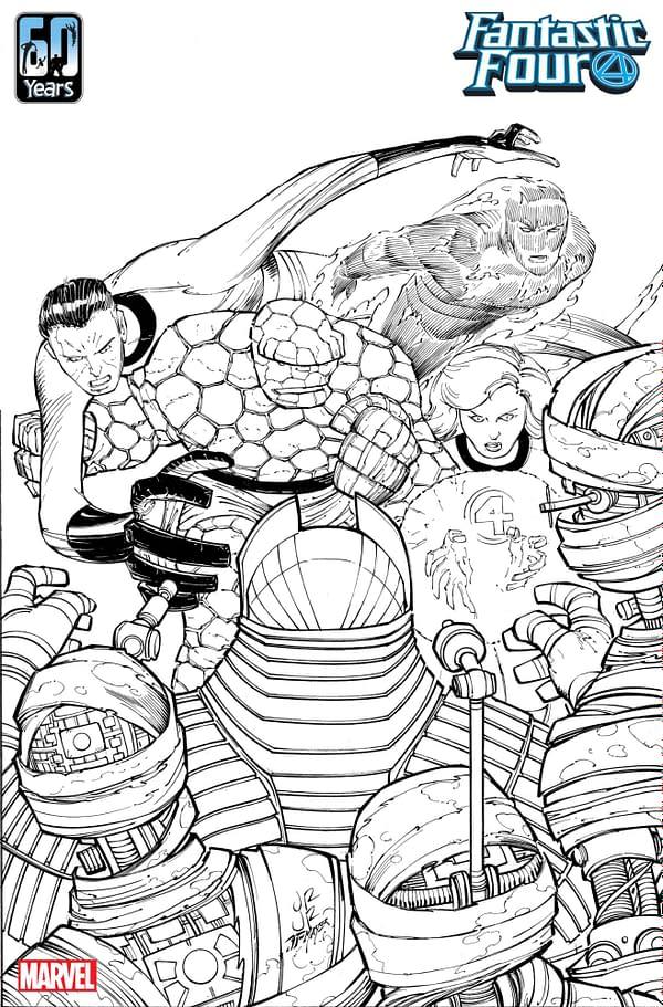 Art by John Romita Jr. for Fantastic Four #35