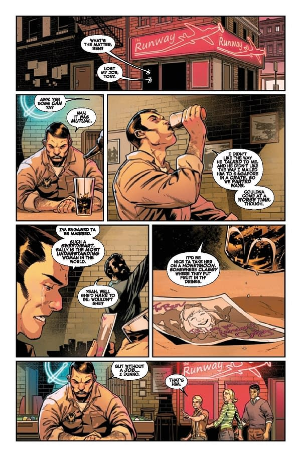 Interior preview page from MAR210562 FANTASTIC FOUR LIFE STORY #1 (OF 6), by (W) Mark Russell (A) Sean Izaakse (CA) Daniel Acuna, in stores Wednesday, May 19, 2021 from MARVEL COMICS