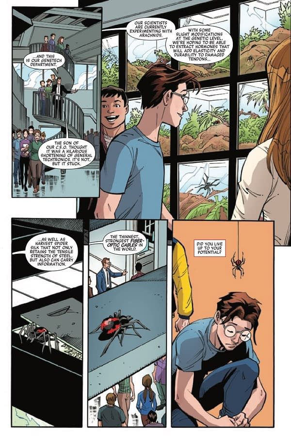 Interior preview page from HEROES REBORN PETER PARKER AMAZING SHUTTERBUG #1