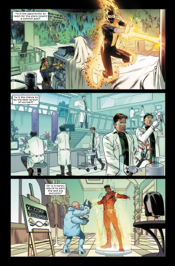 Interior preview page from X-CORP #1