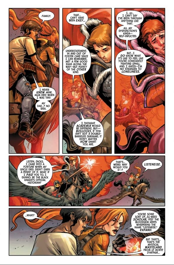 Interior preview page from BLACK KNIGHT CURSE EBONY BLADE #3 (OF 5)