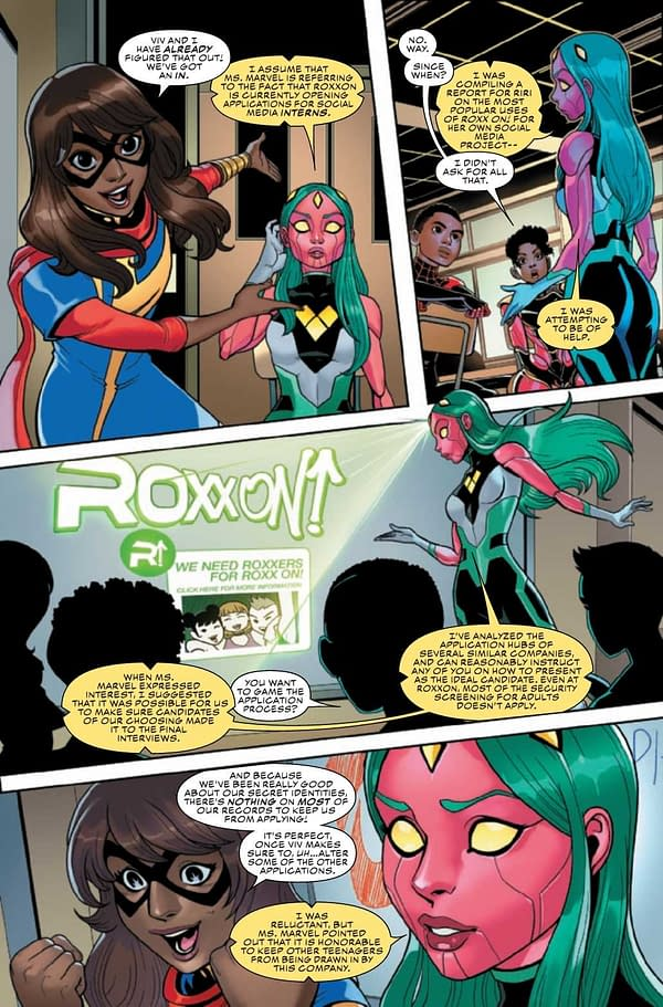 Interior preview page from CHAMPIONS #7