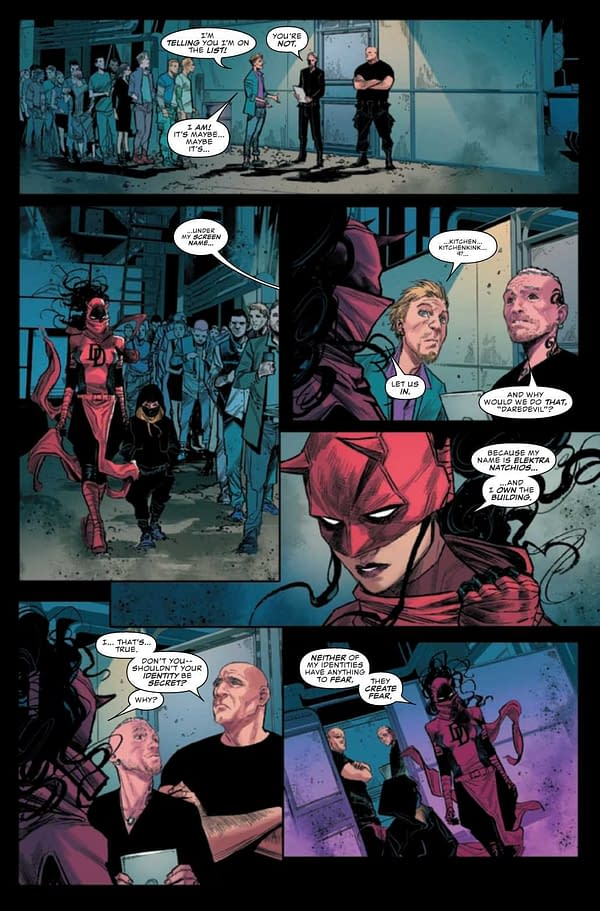 Interior preview page from DAREDEVIL #30
