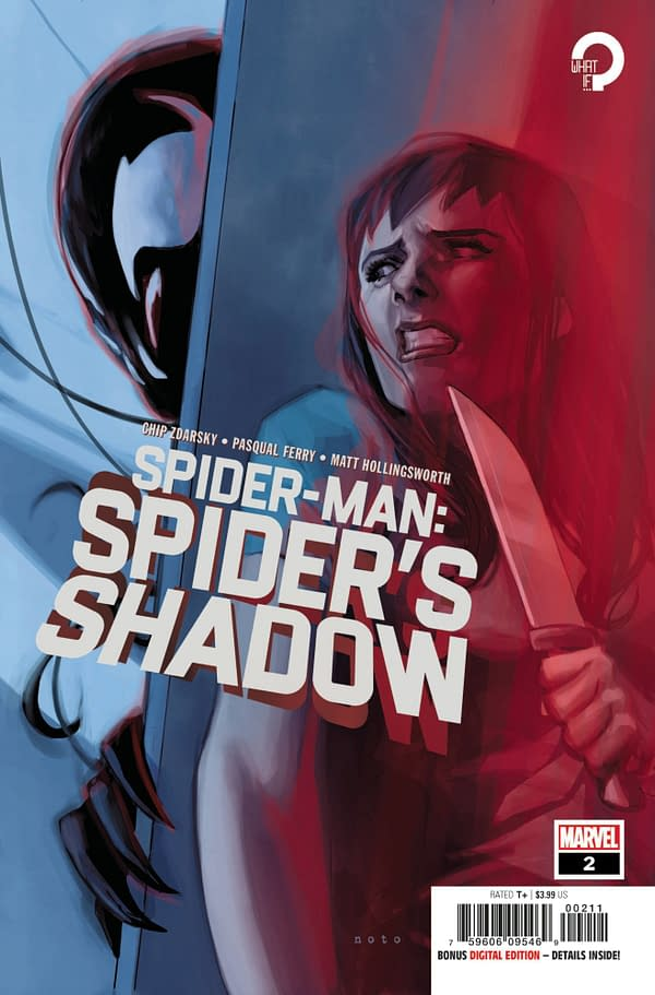 Cover image for MAR210570 SPIDER-MAN SPIDER'S SHADOW #2 (OF 5), by (W) Chip Zdarsky (A) Pasqual Ferry (CA) Phil Noto, in stores Wednesday, May 12, 2021 from MARVEL COMICS