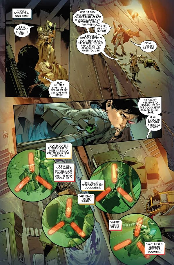 Interior preview page from STAR WARS BOUNTY HUNTERS #12