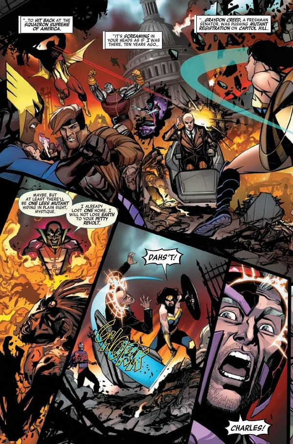 Interior preview page from HEROES REBORN MAGNETO AND MUTANT FORCE #1